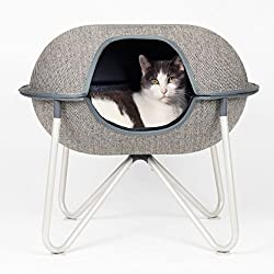 Hepper Pod Pet Bed - A Modern Design Pet Bed for Cats and Small Dogs. Herringbone Fabric.