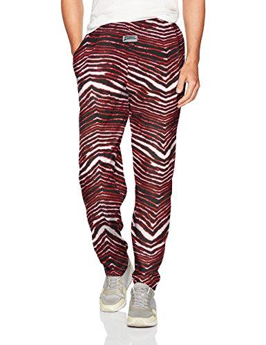 Crazy Man Costume (Zubaz Men's Standard Classic Zebra Printed Athletic Lounge Pants, Black/red,)