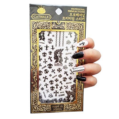 Catwalk Premium Peel-N-Stick Nail Stickers (Goth Cross Saint) Catwalk Chain