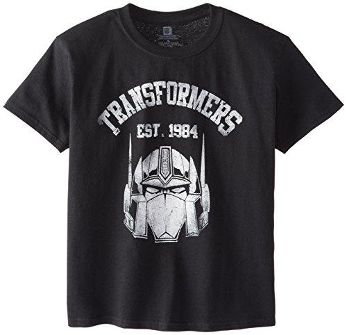 Transformers Big Boys' Short Sleeve T-Shirt Shirt, Black 1984, X-Large/ 18 - 1984 Black T-shirt