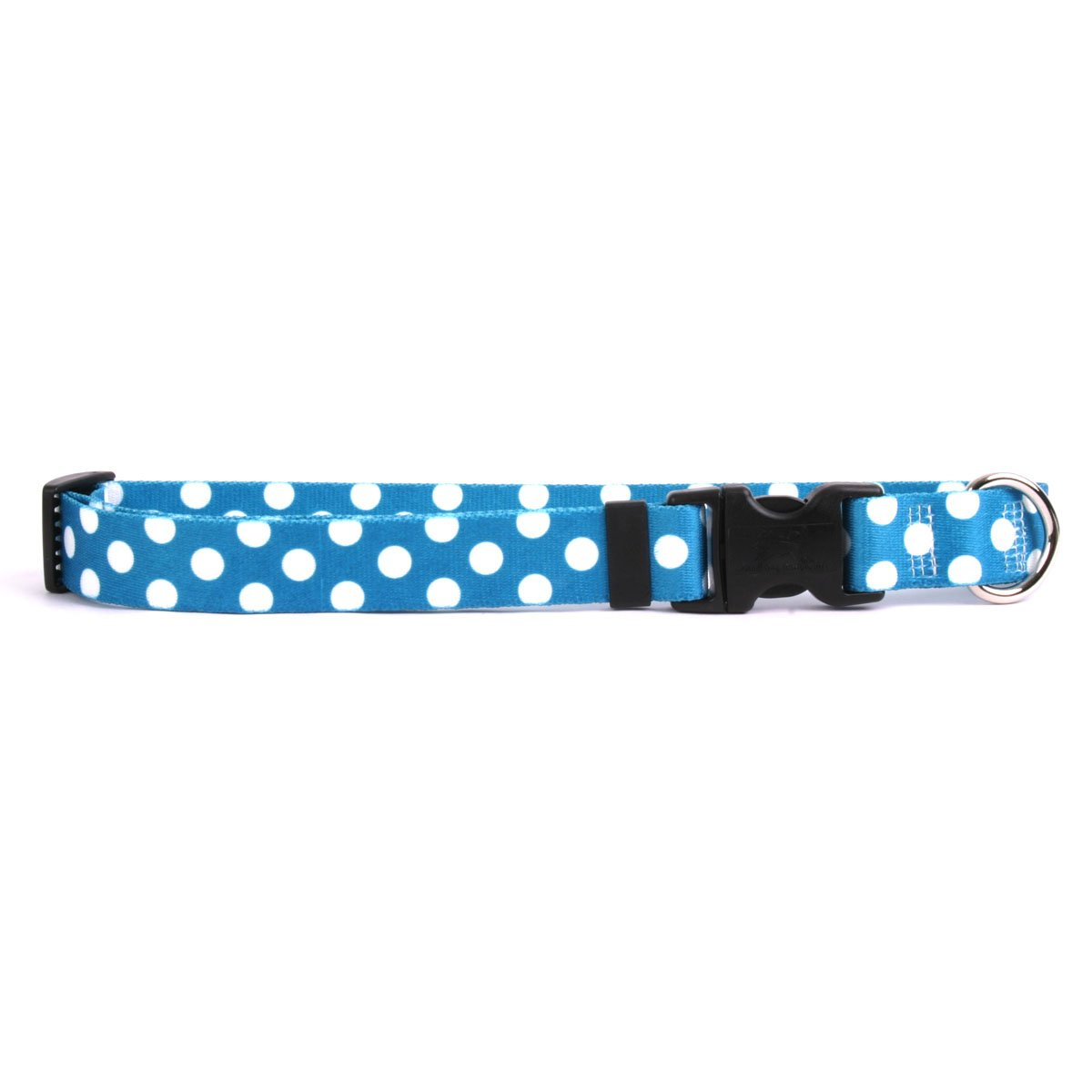 Yellow Dog Design Standard Easy-Snap Collar, Blueberry Polka Dot, Teacup 4'' - 9'' by Yellow Dog Design (Image #1)