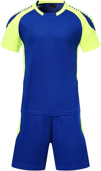 KINDOYO Camisa de fútbol de Manga Corta para Hombres y niños + Shorts de fútbol, Uniforme de fútbol: Amazon.es: Ropa y accesorios