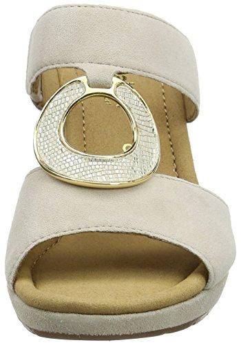 Gabor Shoes 62.825, Zuecos de Cuñas Mujer Beige (Beige Bast 43)