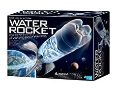Blast off into the heavens with the 4M Water Rocket Kit. The 4M Water Rocket Kit uses the power of water pressure to blast its rocket up to 90 feet in the air. The kit contains all the parts required to transform a recycled soda bottle into a...