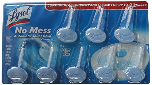 Lysol No Mess Automatic Toilet Bowl Cleaner, Ocean Fresh Scent, 8 (Toilet Deodorizer)