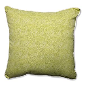"Pillow Perfect Outdoor/Indoor Nabil Kiwi Floor Pillow, 25"" from Pillow Perfect"