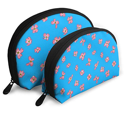 Dogwood Blooms Portable Toiletry Bag Makeup Bag Portable Travel Bags Handbag Organizer with Zipper 2Pcs]()