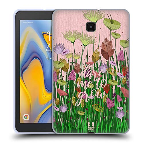 Head Case Designs Dare to Grow Printed Embroidered Quotes Soft Gel Case Compatible for Galaxy Tab A 8.0 (2018)