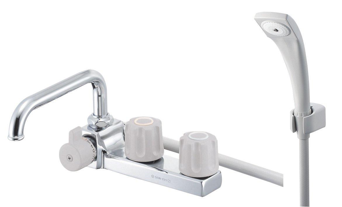 SANEI 【バス用混合栓】 ツーバルブデッキシャワー混合栓 左用 SK7104L-LH-13 B001H6D95O