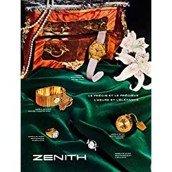 1958 Ad Zenith Watches Jewelry Accessories Fashion Women Lily Ring Time Clock - Original Print Ad