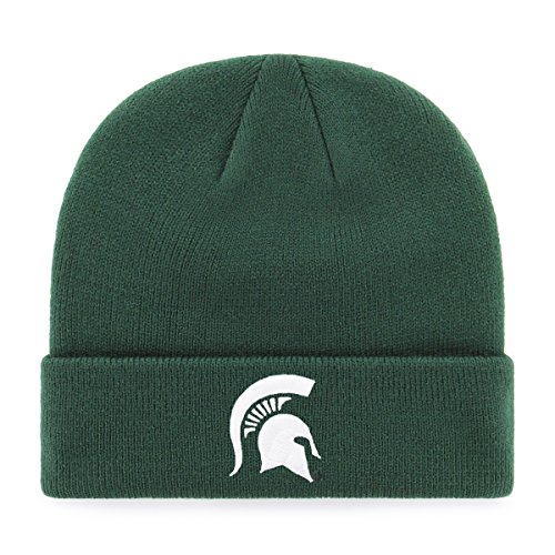 OTS NCAA Michigan State Spartans Raised Cuff Knit Cap, Dark Green, One (Michigan State Spartans Football)
