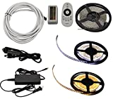Green LongLife 8080108 2-in-1 16.4 FT LED Light Strip Kit w/ Dimmer Remote Control - Warm White & Cool White