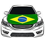 Cheap Brazil Flag Car Hood Cover 3.3X5FT 100% Polyester,Engine Flag,Elastic Fabrics Can be Washed,Car Bonnet Banner