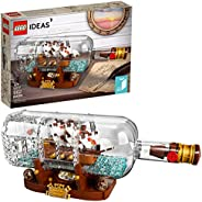 LEGO Ideas Ship in a Bottle 92177 Expert Building Kit, Snap Together Model Ship, Collectible Display Set and T