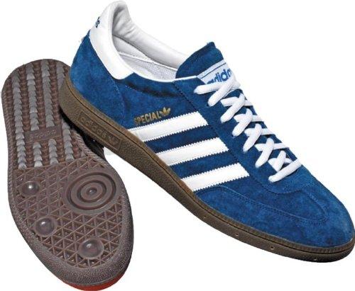 adidas The Spezial Sneaker in Originals Blue, White, & Gum,10.5,Blue