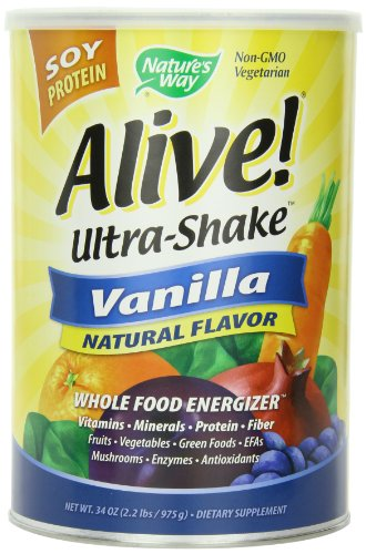 Alive! Soy Ultra-Shake à la vanille, £ 2,2 poudre