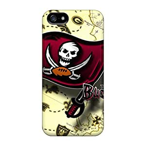 Durable Hard Phone Cover For Iphone 5/5s With Allow Personal Design Fashion Tampa Bay Buccaneers Pattern LisaSwinburnson