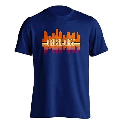 ff1dc34c19f Amazon.com   Houston Crush City Baseball Skyline Adult Short Sleeve ...