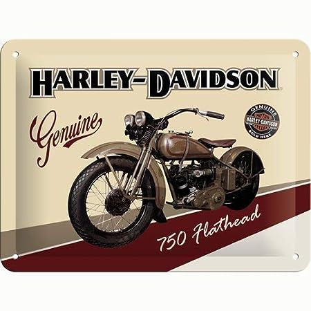 Nostalgic-Art Cartel de Chapa 15x20 -Harley-Davidson Flathead