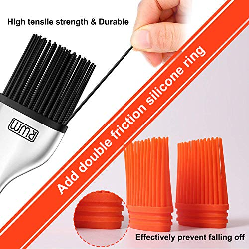 RWM Basting Brush - Good Grips Flexible Heatproof Stainless Steel Pastry Brush with Back up Silicone Brush Head Resistant,Food Grade,Dishwasher Safe,BPA Free,Bristle Free,Pack of 2(Version Updating) by RWM (Image #4)
