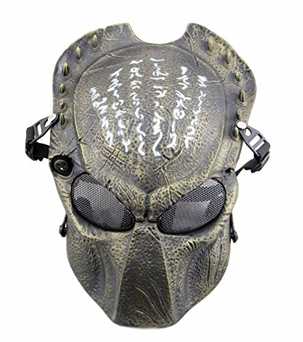 [POJ Japanese Word Design Mask [ BlackRed / BlackYellow / Red bronze / Green bronze ] (Green bronze)] (Green Troll Costumes Contact Lenses)