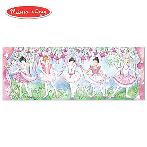 Melissa & Doug Bella Ballerina Floor Puzzle (Easy-Clean Surface, Promotes Hand-Eye Coordination, 48 Pieces, 50