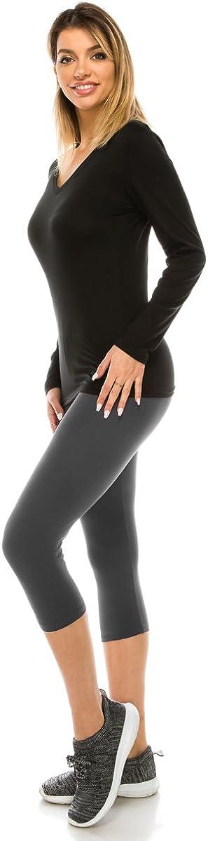 Solid Buttery ALWAYS Women Basic Capri Leggings