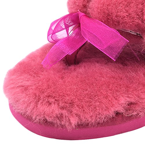 Oasap Damen Fashion Winter Warm Flache Slippers Yellow