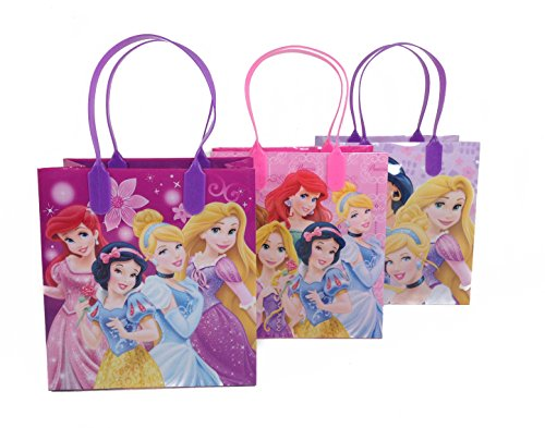 (12ct) Disney Nickelodeon Marvel Birthday Goody Gift Loot Favor Bags Party Supplies (Princess) Princess Birthday Favors