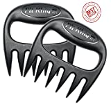 Pit King Pulled Pork Shredder Claws | BPA Free | Solid Construction | Easily Pull Pork | Lift Brisket | Dish Washer Safe | No Crevices for Meat to Get Stuck in | Easy Storage | Heat Resistant Nylon