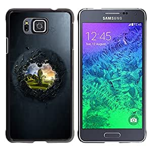 TECHCASE**Cubierta de la caja de protección la piel dura para el ** Samsung GALAXY ALPHA G850 ** View To The Other Side