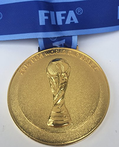 2014 Brazil Soccer FIFA World Cup Souvenir Gold Medal w ribbon VERY RARE Germany Winner Champions (not a coin or pin)