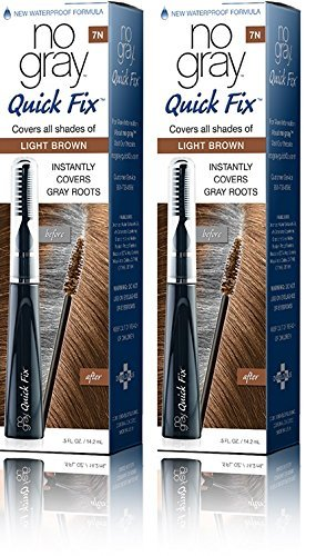 No Gray Quick Fix Instant Touch-Up for Gray Roots (Set of 2, Light Brown) by No Gray