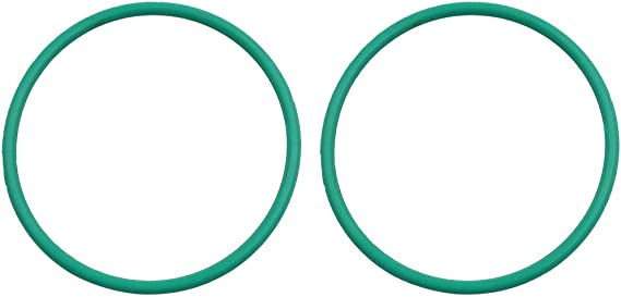X AUTOHAUX 2pcs Green Universal Rubber O-Ring Seal Gasket Washer for Car 80mm x 3.5mm