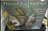 (US) River's Edge Horned Toad Salt and Pepper Set