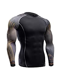 Funycell Men's Compression Long Sleeves Activewear Sports T shirt