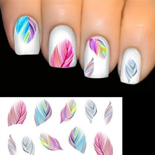 Nicedeal Elenxs Accessoires Beauté Nail Art transfert d'eau Autocollant Rainbow Dreams outils de maquillage et pinceaux pour Beauté