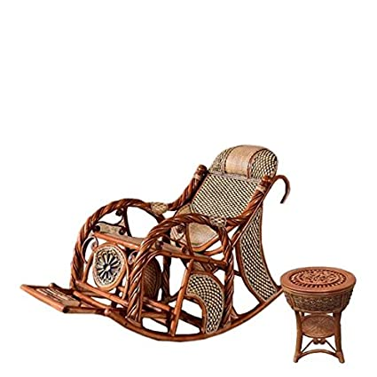 Pleasant Amazon Com Natural Bamboo Rattan Wicker Rocker Set Spiritservingveterans Wood Chair Design Ideas Spiritservingveteransorg