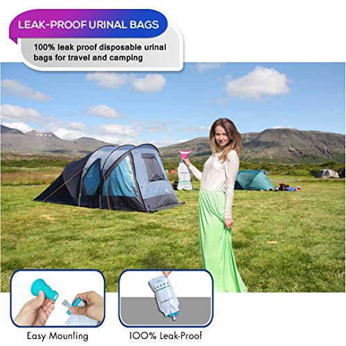 Pee Funnel for Women Men Urinals Set NAXER Male Female Urinal Urination DeviceWee Portable Camping ToiletLuggable LooPorta Pottywith Disposable Urinal Bags for Travel Camp Car Kayak Hiking Outdoor