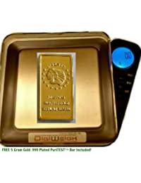 Gain 20-Ounce Stainless Kitchen Scale-Weigh Gourmet Dried/Cut Herb Plant Bulk-1.3 Pounds, over 600 Grams!-Black online
