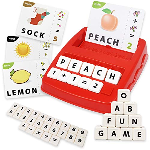 XUNPAS 2 in 1 Matching Letter Game & Learning Educational Toys Games for Kids Ages 3-4-5-6-7, Sight Words Flash Cards and ABC Toys for Preschool Kindergarten Toddlers Boy and Girl