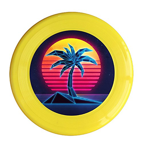 Flying Fun Set - Coconut Tree And Sunset Flying Frisbee Discs Family Fun Group Game Variety Of Colors Durable