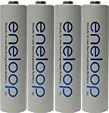 4 Pack AAA Panasonic Eneloop 4th generation NiMH Pre-Charged Rechargeable 2100 Cycles Batteries + Free Battery Holder