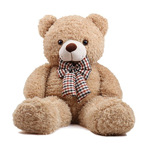 MorisMos Giant Big Teddy Bear Stuffed Animals Cuddly Plush Cute Toy Doll Gift for Girlfriend Children 32 inches Tan