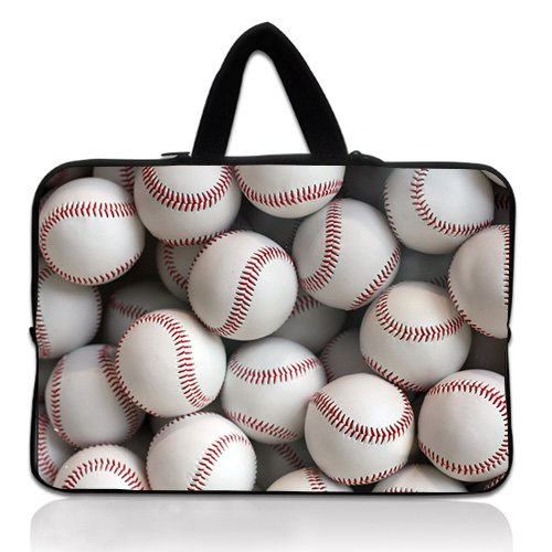 Baseball Briefcase (Wondertify 14-14.1 Inch Waterproof Neoprene Laptop Handbag Sleeve Briefcase - Baseball Protective Bag Carrying Case for Macbook Air/Pro/ThinkPad/Dell/Toshiba/HP/ASUS/Samsung)