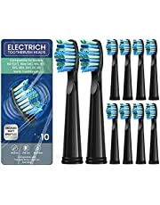 10Pack Toothbrush Heads, Electric Toothbrush Replacement Heads Compatible with Fairywill Electric Toothbrush FW-507/508/515/551/917/959/2011/D1/D3/D7/D8 Fairy Will