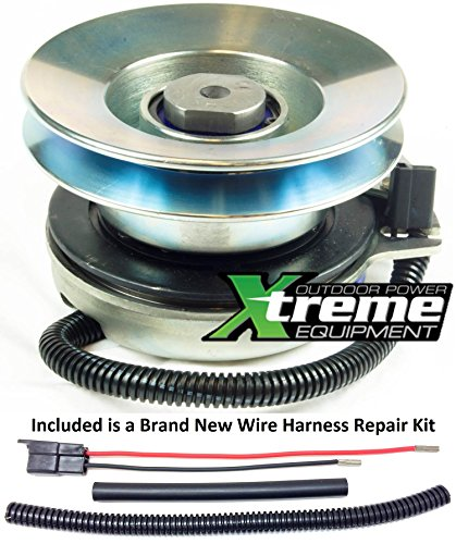 Bundle - 2 items: PTO Electric Blade Clutch, Wire Harness Repair Kit. Replaces Warner 5217-53 Big Dog Mower PTO Clutch - w/ Wire Harness Repair Kit !