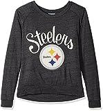 NFL Pittsburgh Steelers Women's Long Sleeve Tee, Small, Charcoal Heather