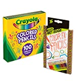 Crayola 100Count Colored Pencils with 16Count Color Fx Metallic & Neon, Amazon Exclusive, Great For Coloring Books, Gift (Amazon Exclusive)