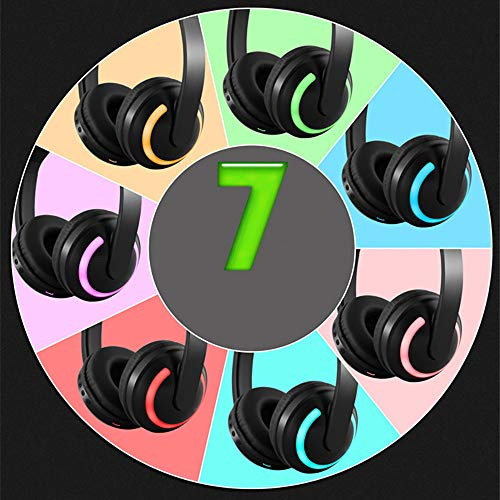 - Seven-Color Llluminated Headset Stereo Headset Curve Wireless Headset